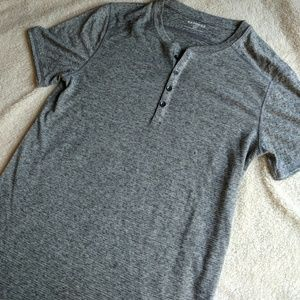NWOT Express Grey Short Sleeve Henley
